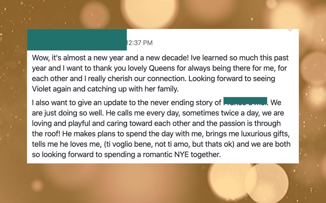Her New Year's Romance…1 min read
